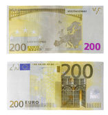 Euro 200 money currency — Stock Photo