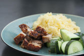 Rice with crispy pork — Stock Photo