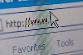 Closeup of internet url address — Stock Photo