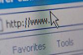 Closeup of internet url address — Stock Photo