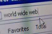 互联网的特写的 url 地址 — 图库照片