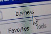 Closeup di internet indirizzo url — Foto Stock