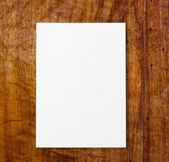 White paper on table — Stock Photo