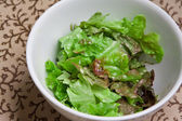 Fresh bowl of green salad — Stock Photo