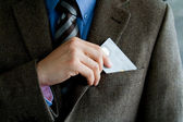 Business man with credit card — Stock Photo