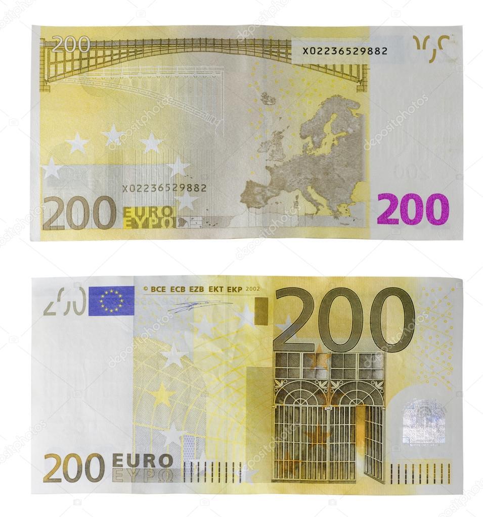 200 euro banknote euro banknote 200 view 24k