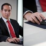 Asian business man using computer — Stock Photo #14910109