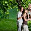 Happy perfect young family — Stock Photo #14911591