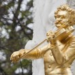 Johann Strauss statue in Vienna — Stock Photo