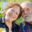 Old happy loving couple — Stock Photo