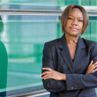 Black african american business woman — Stock Photo