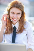 Motivate Call Center agent — Stock Photo