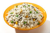 Cooked pilaf rice — Stock Photo