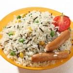 Rice garnish — Stock Photo