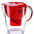 Stock Photo: Red water filtration pitcher