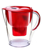 Red water filtration pitcher — Stock Photo