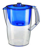 Blue water filtration pitcher — Stock Photo