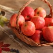 Basket of red apples — Stock Photo
