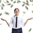 Dream of raining money — Stock Photo