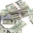 Stacks of american dollars — Stock Photo