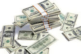 Piles de dollars américains — Photo