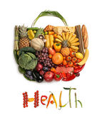 Health food handbag — Stock Photo