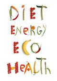 Diet, energy, eco, health — Stock Photo