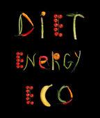 Diet, energy, eco — Stock Photo