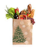 Christmas shopping bag — Stock fotografie