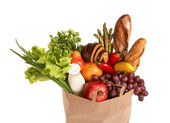 Shopping bag filled with groceries — Stock Photo
