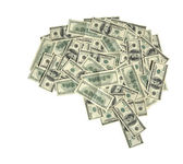 The brain shaped money heap — Stock Photo