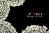 Deposit background concept and place for the text — Stock Photo