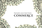 Commerce background concept and place for the text — Stock Photo