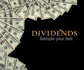Dividends background concept and place for the text — Stock Photo