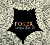 Poker background concept and place for the text in center — Stock Photo