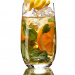 Glass of cocktail with orange and mint — Stock Photo