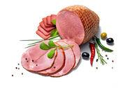 Ham with herbs — Stock Photo