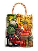 Exclusive foods made handbag — Stock Photo