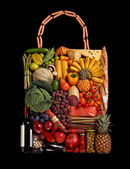 Foodstuff handbag — Stock Photo