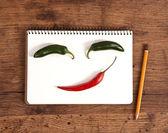 Face made of veggies — Photo