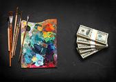Художественные краски для продажи — Стоковое фото