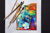 Oil paints picture — Stock Photo