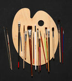 Paint brushes used for many different mediums — Stock Photo