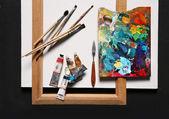 Oil painting set — Stock Photo
