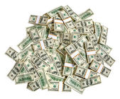 Pila di dollari — Foto Stock