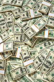 Stacks of one hundred dollars banknotes — Stock Photo