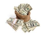 Sack full of money — Stock Photo