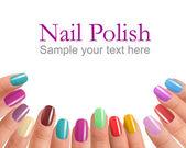 Multi Color manicure — Stock Photo