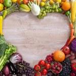 Heart shaped food — Stock Photo #50685369