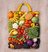 Healthy food shopping — Stock Photo